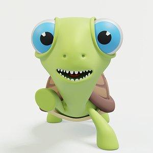 3D Cute Turtle model