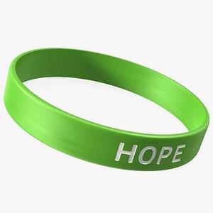 3D Hope Rubber Bracelet model