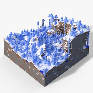 Minecraft Ice Spikes Biome Small 3D model