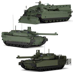 MBT  AMX  Leclerc collection 3D model