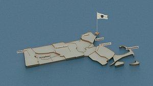3D model massachusetts state cities