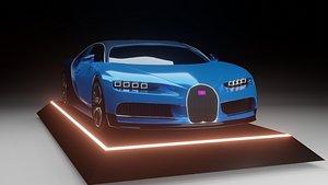 3D Bugatti Chiron Super Sport