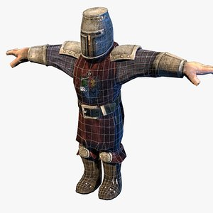 3D model castle guard warrior