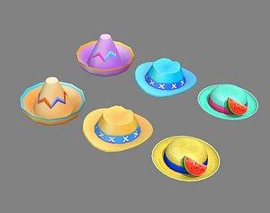 hat fashion cap 3D model