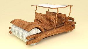Flintstones Car 3D model