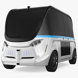 3D model Electric Driverless Bus Exterior Only
