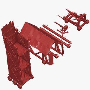 7 medieval roman war 3D model