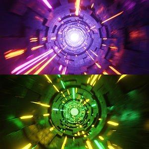 3D Scifi Tunnel TimeWarp Portal Package model