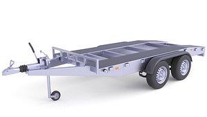 3D model Heavy Duty Cart Cargo Trailer 26