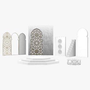 Arabic Decorative Set 3D model