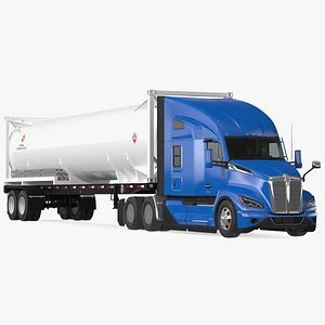 Kenworth T680 Truck with Liquid Natural Gas Trailer model