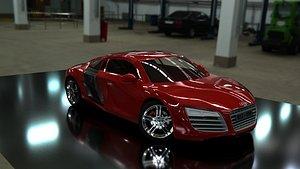 3D model Audi r8 low poly