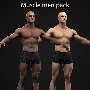 Muscle Men Collection 3D model