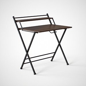 Futura folding study Table black finish 3D model