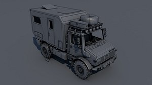 3D model Unimog – Atlas 4×4 Mid-Poly