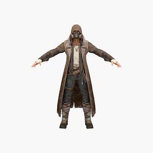 3D hunter human