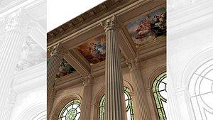3D model versailles chapel hall