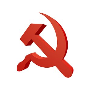Hammer and sickle 3D model