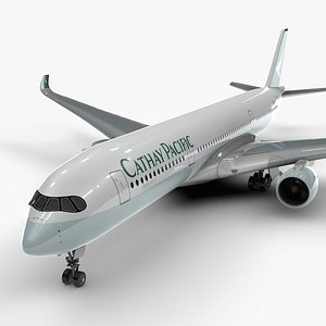a350-900 cathay pacific l1118 3D model