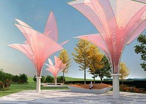3D City landscape sculpture public art installation creative design park sketch
