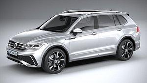3D Volkswagen Tiguan R-Line Allspace 2022