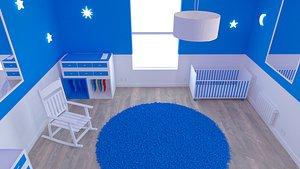 3D Habitacion bebe Baby Room 2 model