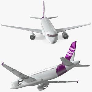 3D Jet Airliner Scale Model model