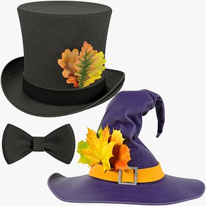 3D Halloween Hats Collection V2