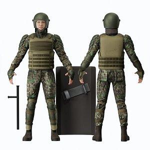 Military uniform 3D model