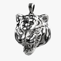 Tiger pendant 2022 P7 3D print model