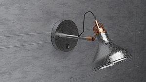 3D model wall light
