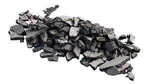 3D asphalt rubble scan model