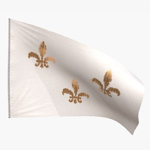 3D flag royal french