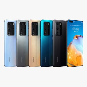 3D model Huawei P40 Pro All Color