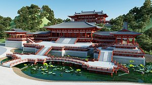 3D Ancient Chinese Architecture 02