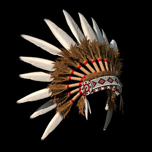 3D model traditional headdress