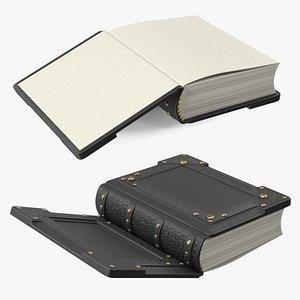 Vintage Ornate Book Black 3D model