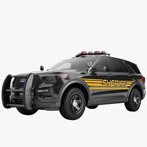Ford Explorer 2020 Police 06 3D