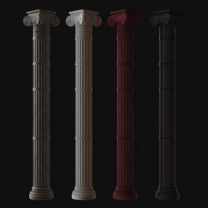 column ephesus 3D model