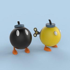 3D cartoon bomb