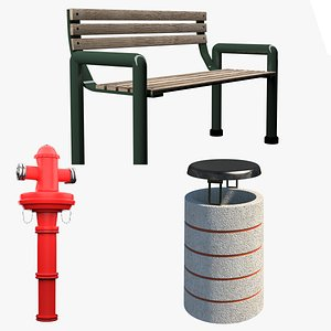 3D model Street Furniture Collection