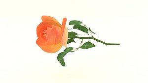 petal red roses 3D model