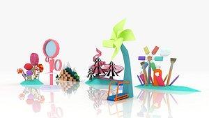 Cartoon Lollipop 3D model