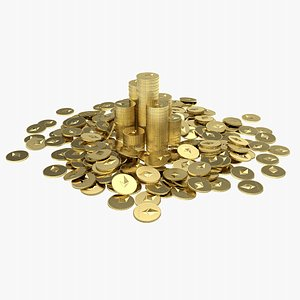 Ethereum Coin Pile 2 3D model