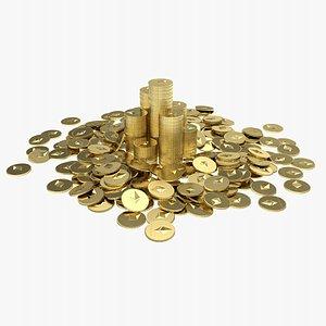 Ethereum Coin Pile 2 3D model
