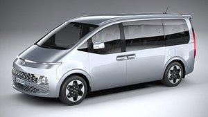 3D Hyundai Staria 2022