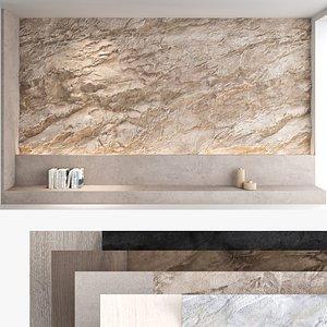 3D Decorative wall panel set 61