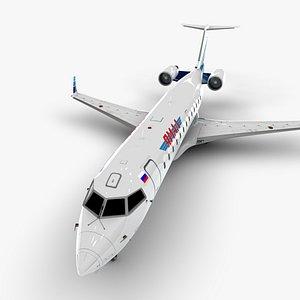 3D airlines bombardier crj 200 model