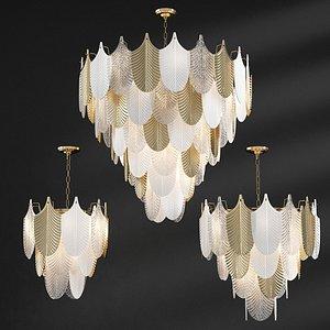 3D model abelia chandelier