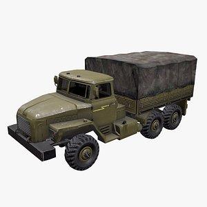 3D Ural 4320 Low-poly PBR